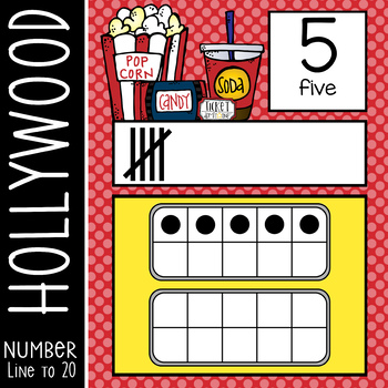 HOLLYWOOD - Number Line Banner, 0 to 20, Illustrated, ten frames