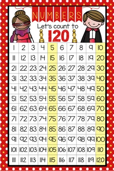 HOLLYWOOD - Classroom Decor: Counting to 120 Poster - size