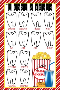 HOLLYWOOD - Classroom Decor: I lost a TOOTH - size 24 x 36