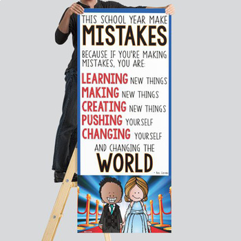 HOLLYWOOD - Classroom Decor: LARGE BANNER, This School Year Make MISTAKES