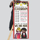 HOLLYWOOD - Classroom Decor: LARGE BANNER, When You Enter this Classroom