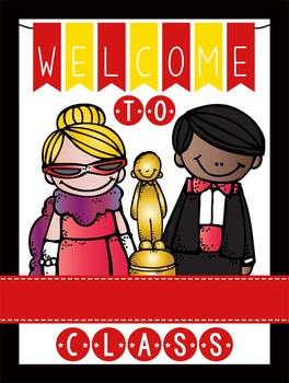 HOLLYWOOD - Classroom Decor: WELCOME Poster - 18 x 24, you personalize, Design A