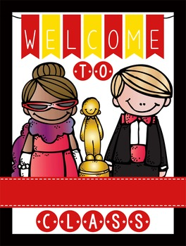 HOLLYWOOD - Classroom Decor: WELCOME Poster - 18 x 24, you personalize, Design B