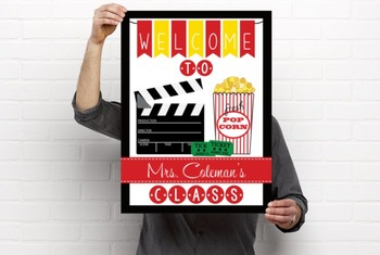 HOLLYWOOD - Classroom Decor: WELCOME Poster - 18 x 24, you personalize, Design C