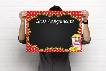 HOLLYWOOD - Classroom Decor: editable chalkboard  POSTERS / Bistro Chalk Marker