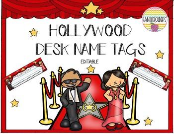 HOLLYWOOD DESK NAME PLATES-Editable