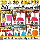 HOLLYWOOD MOVIE NIGHT CLASS DECOR BUNDLE: 2D AND 3D SHAPES