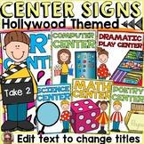 HOLLYWOOD MOVIE NIGHT CLASS DECOR: EDITABLE CENTER SIGNS