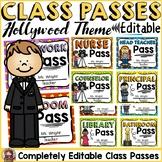 HOLLYWOOD MOVIE NIGHT CLASS DECOR: EDITABLE CLASSROOM PASSES