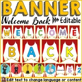 HOLLYWOOD MOVIE NIGHT CLASS DECOR: WELCOME BACK BANNER: EDITABLE
