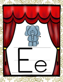 HOLLYWOOD MOVIE THEMED CLASSROOM DECOR PRINT ALPHABET POSTERS