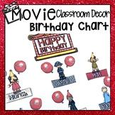 HOLLYWOOD MOVIE THEMED CLASSROOM DECOR EDITABLE BIRTHDAY DISPLAY CHART