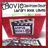 HOLLYWOOD MOVIE THEMED CLASSROOM DECOR EDITABLE BOOK LABELS