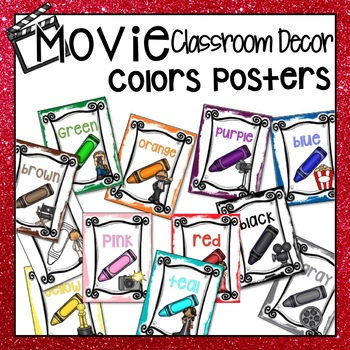 HOLLYWOOD MOVIE THEMED CLASSROOM DECOR SHAPE POSTERS