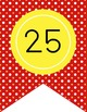 HOLLYWOOD - Number Line Banner, 1 to 25, EDITABLE to continue