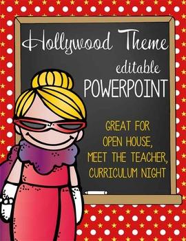 HOLLYWOOD - PowerPoint, Open House, Curriculum Night, Meet