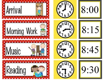 HOLLYWOOD - Schedule Cards / editable MS WORD / Illustrated