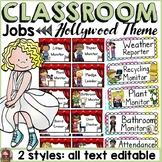 HOLLYWOOD MOVIE NIGHT THEME: CLASSROOM JOBS: EDITABLE