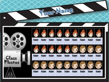 HOLLYWOOD Class Photos and Names For Sub & Lesson Plans SUPERCUTE!