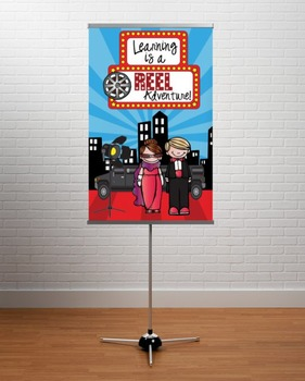 HOLLYWOOD Theme - Classroom Decor : MEDIUM  BANNER - Learning Is A Reel