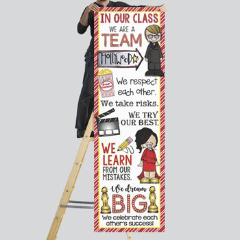 HOLLYWOOD Theme - Classroom Decor : XLARGE  BANNER - In Our Class