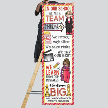 HOLLYWOOD Theme - Classroom Decor : XLARGE  BANNER - In Our School