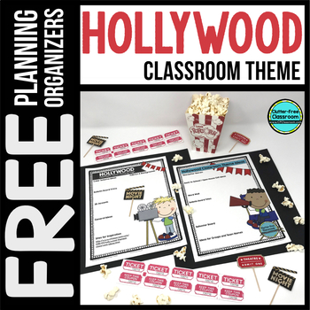 HOLLYWOOD Theme Decor Planner by Clutter Free Classroom