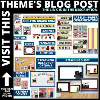 HOLLYWOOD THEME Classroom Theme EDITABLE