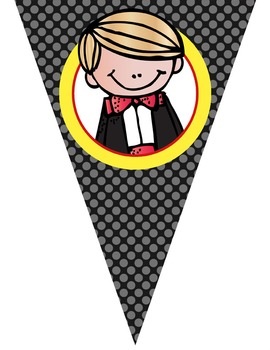 HOLLYWOOD theme - Classroom Decor - Triangle Banners, CREATE a BANNER