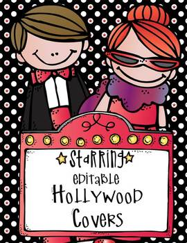 HOLLYWOOD - binder covers and spines, editable