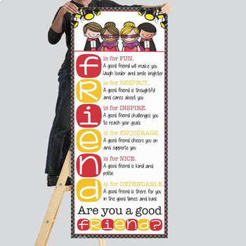 HOLLYWOOD - Classroom Decor: LARGE BANNER, Are You a Good FRIENDS