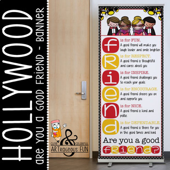 HOLLYWOOD theme - Classroom Decor: LARGE BANNER, FRIENDS