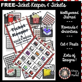 FREEHollywood/ Movie Themed Ticket Keeper & Tickets
