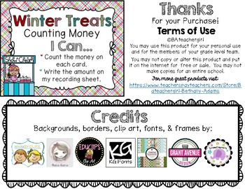 Winter Treats Counting Money