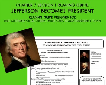 HOLT: UNITED STATES HISTORY INDEPENDENCE TO 1914 READING GUIDE CH. 7 SEC. 1