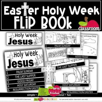 HOLY WEEK: STORY OF THE RESURRECTION OF JESUS FLIP-BOOK