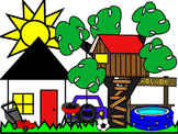 HOME CLIP ART * COLOR AND BLACK AND WHITE