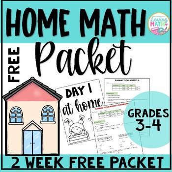 HOME MATH PACKET FREE - 2 Weeks of Practice (Coronavirus Free Packet)