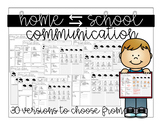 HOME ⇄ SCHOOL COMMUNICATION for PRESCHOOL, SPED or EARLY ELEMENTARY