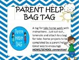 HOME SCHOOL CONNECTION -  parent helper bag - back to school