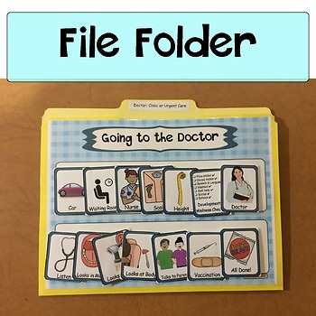 Visual Schedule, Social Story Starters, Pretend, Role-Play: Going to Doctor