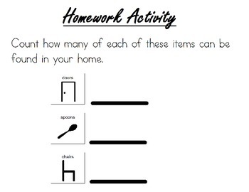 HOMEWORK ACTIVITIES ideal for special education including autism