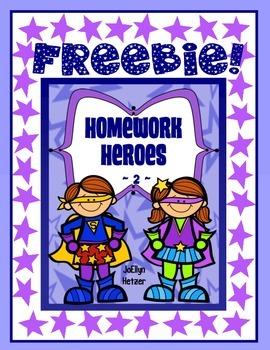 HOMEWORK HEROES ~ 2  {FREEBIE}