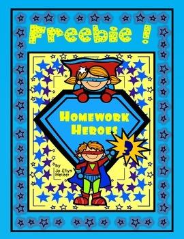 HOMEWORK HEROES ~FREEBIE {Volume 3}