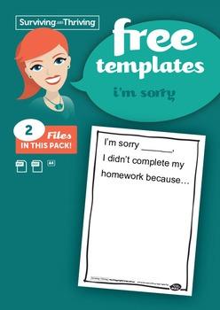 HOMEWORK MANAGEMENT - I'm Sorry Letter