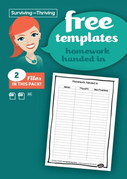 HOMEWORK MANAGEMENT - Homework Handed in Template