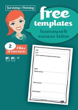 HOMEWORK MANAGEMENT - Homework Excuse Letter