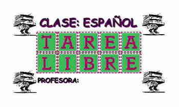HOMEWORK PASS (Spanish Class)