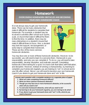 Study Skills, HOMEWORK, Study Skills Lesson