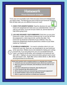 Do homework early study skills